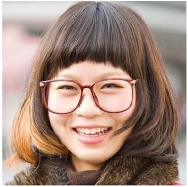 潮流眼镜 清爽短发造型
