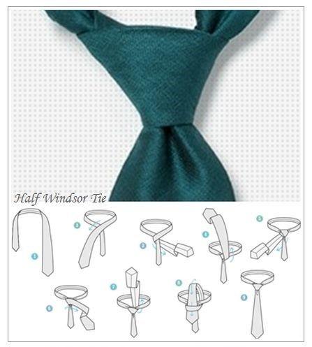 男士领带的系法形象管理